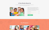Responsywny szablon Landing Page Kinderex - Kids Learning Center Clean HTML5 #78185