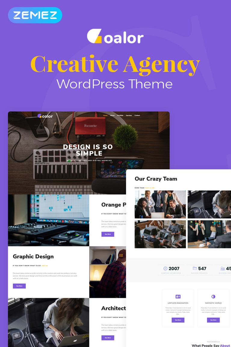Goalor - Creative Agency Multipurpose Modern Elementor WordPress Theme