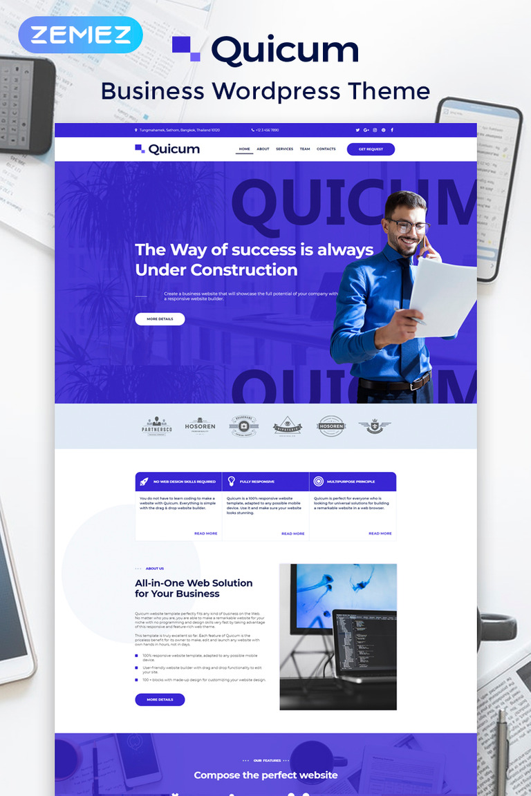 Quicum - Business Multipurpose Classic Elementor WordPress Theme