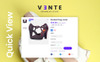 """Vente - Shoes Store Clean Bootstrap Ecommerce"" Responsive PrestaShop Thema Groot  Screenshot"