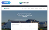 """Modello di Landing Page Responsive #79169 """"Homeland - Real Estate Agency Classic Bootstrap4 HTML"""""""