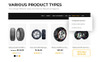 "Magento motiv ""Gento - Clean 3-Layouts eCommerce Wheels & Tires"" Velký screenshot"