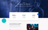 "Website Vorlage namens ""B-Rock Band - Music Band Multipage Creative HTML"""
