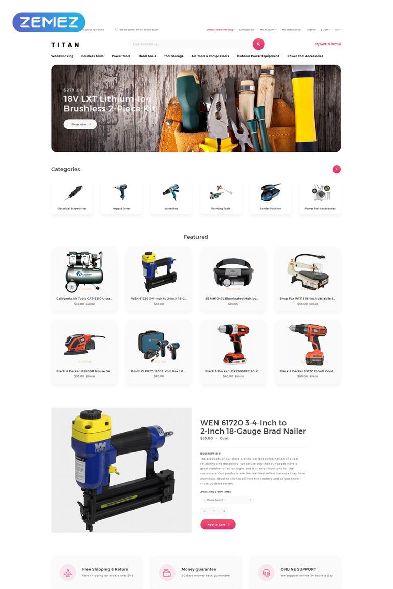 Titan - Tools Store Clean OpenCart Template #79855