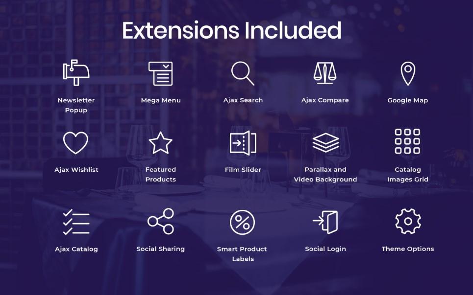 Plantilla para magento - Categoría: Decoración y muebles - versión para Desktop
