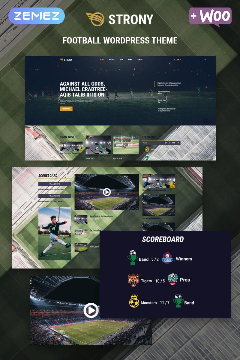 Адаптивный шаблон №80051 на тему спорт, природа и путешествия, виды спорта, футбол