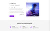 "Website Vorlage namens ""DJ Angerone - Music Multipage Modern HTML"" Großer Screenshot"