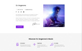 "Website Vorlage namens ""DJ Angerone - Music Multipage Modern HTML"""