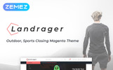 """Landrager - Extreme and Outdoor Sports eCommerce"" thème Magento adaptatif"