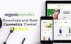 """""""OrganicCosmetics - Clean eCommerce Cosmetics Store"""" thème Magento adaptatif Grande capture d'écran"""