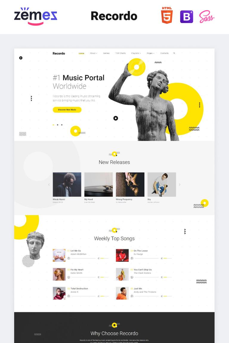 Recordo - Music Studio Creative Multipage HTML Website Template #84743