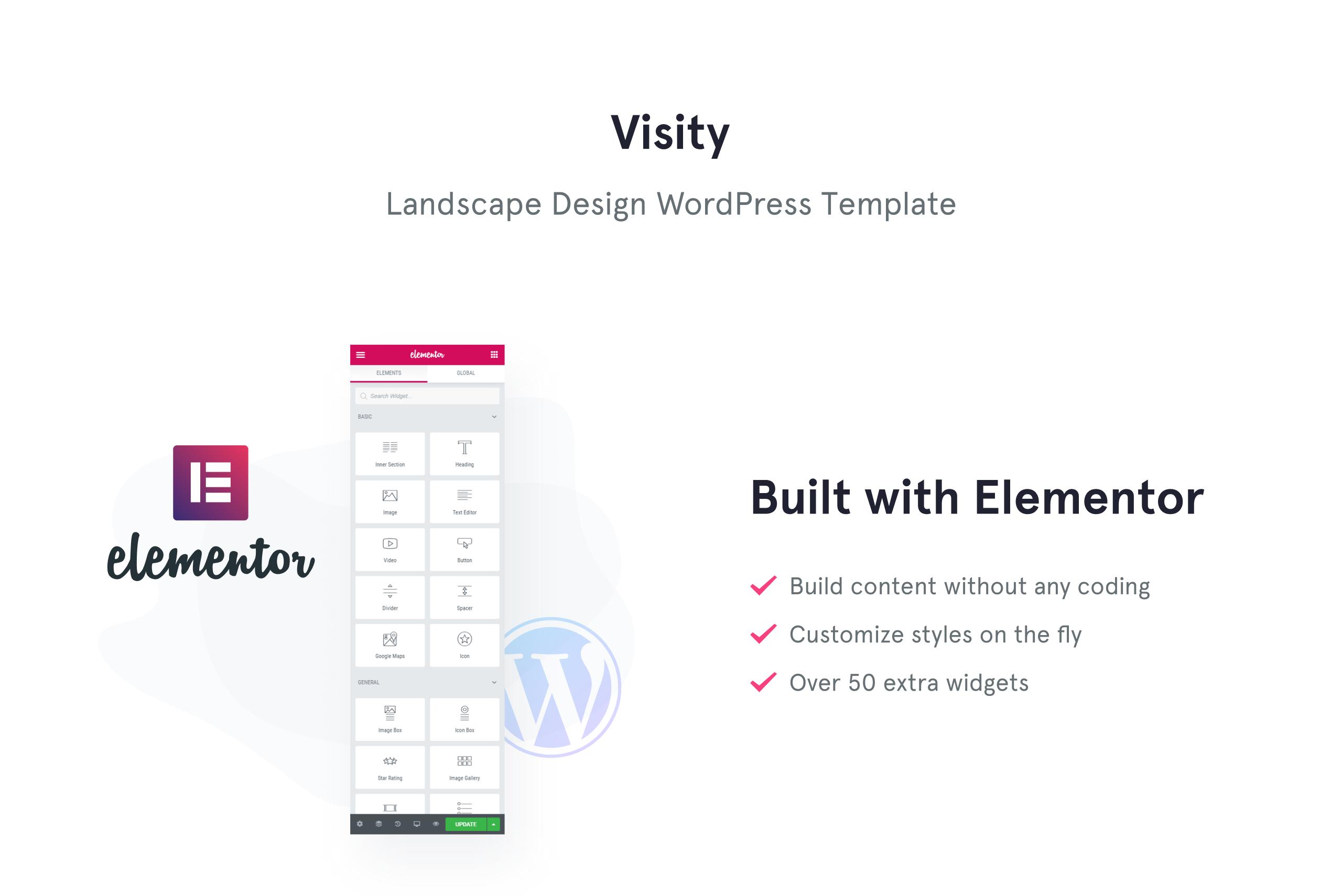 Visity - Landscape Design with Elementor WordPress Theme