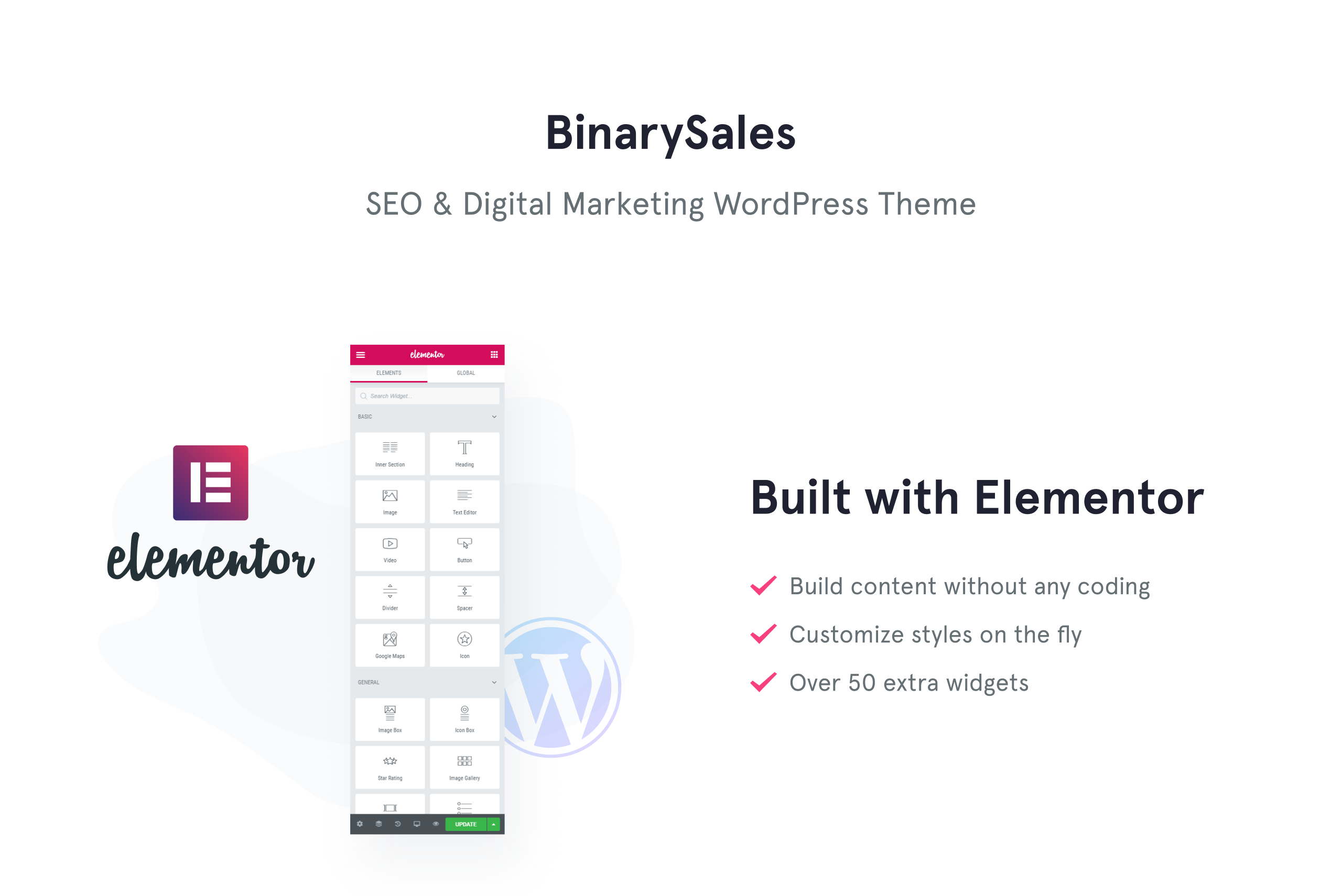 BinarySales - SEO & Digital Marketing WordPress Theme