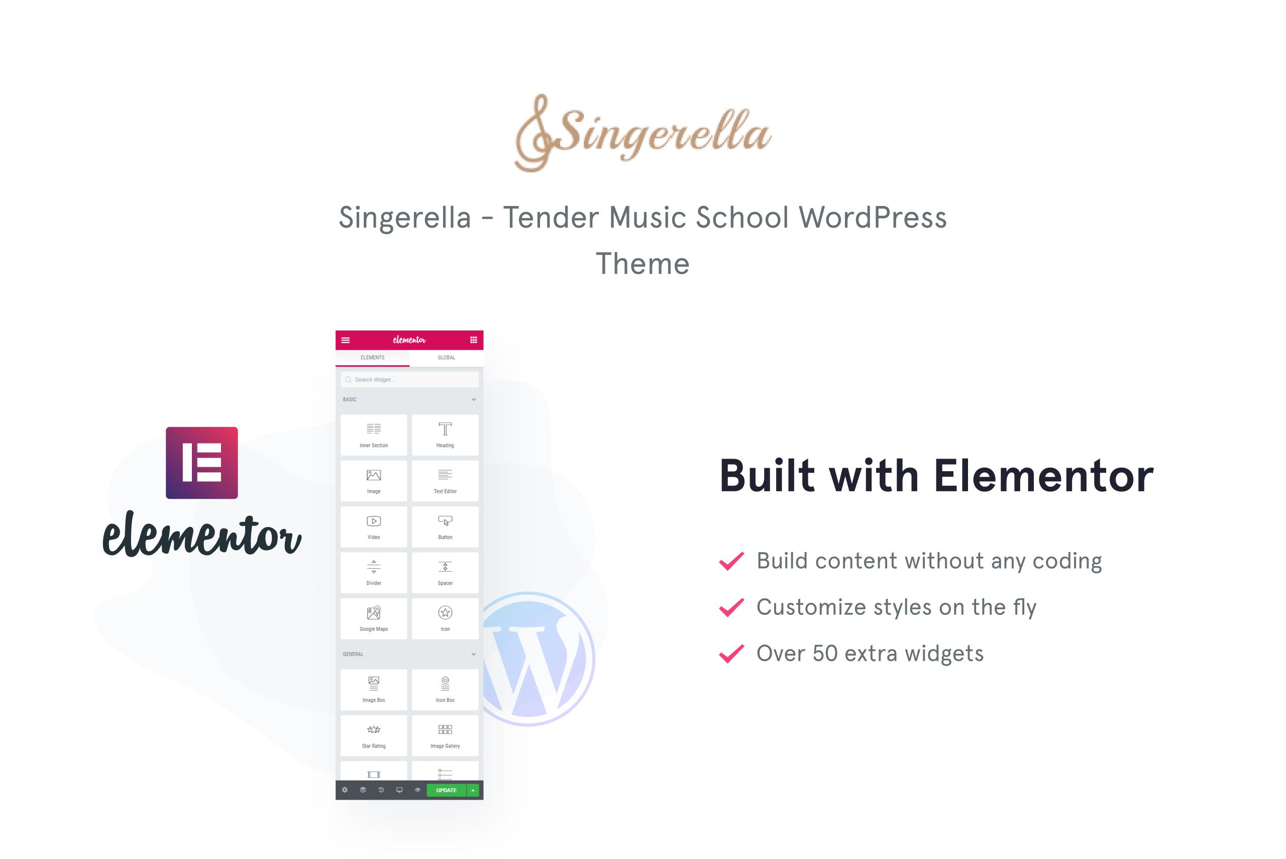 Singerella - Music School WordPress Theme