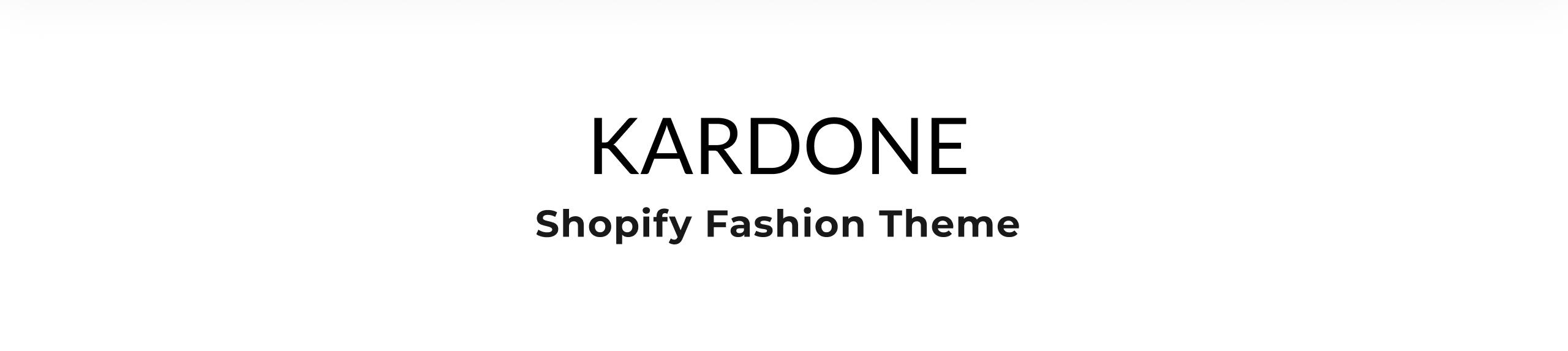 Kardone - Clothing Store Modern Shopify Theme