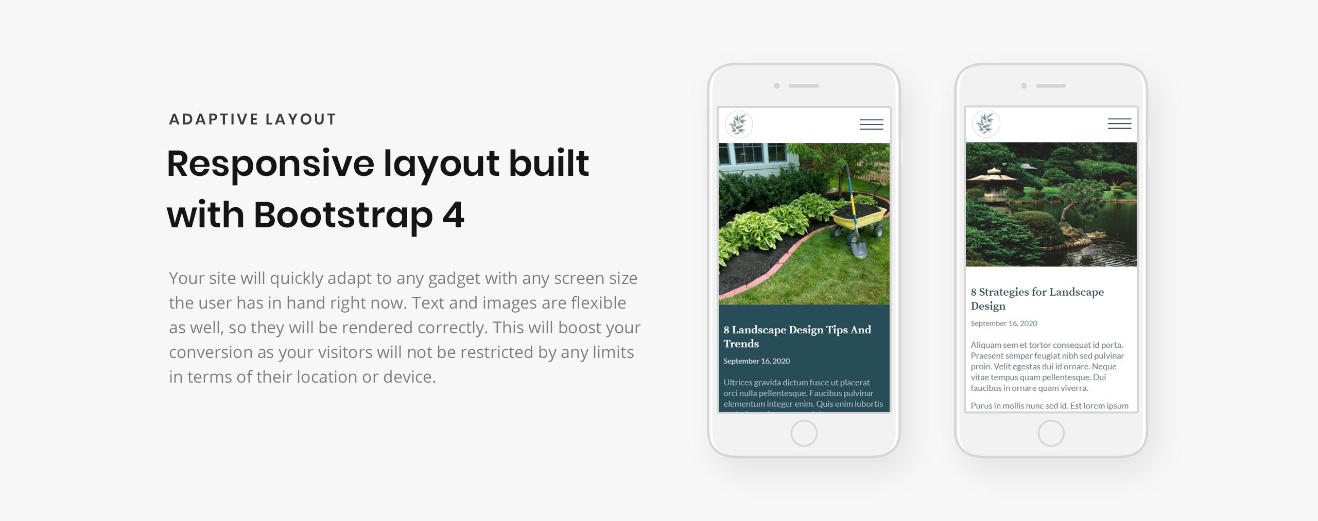 Landscape And Garden Design Website Template Templatemonster