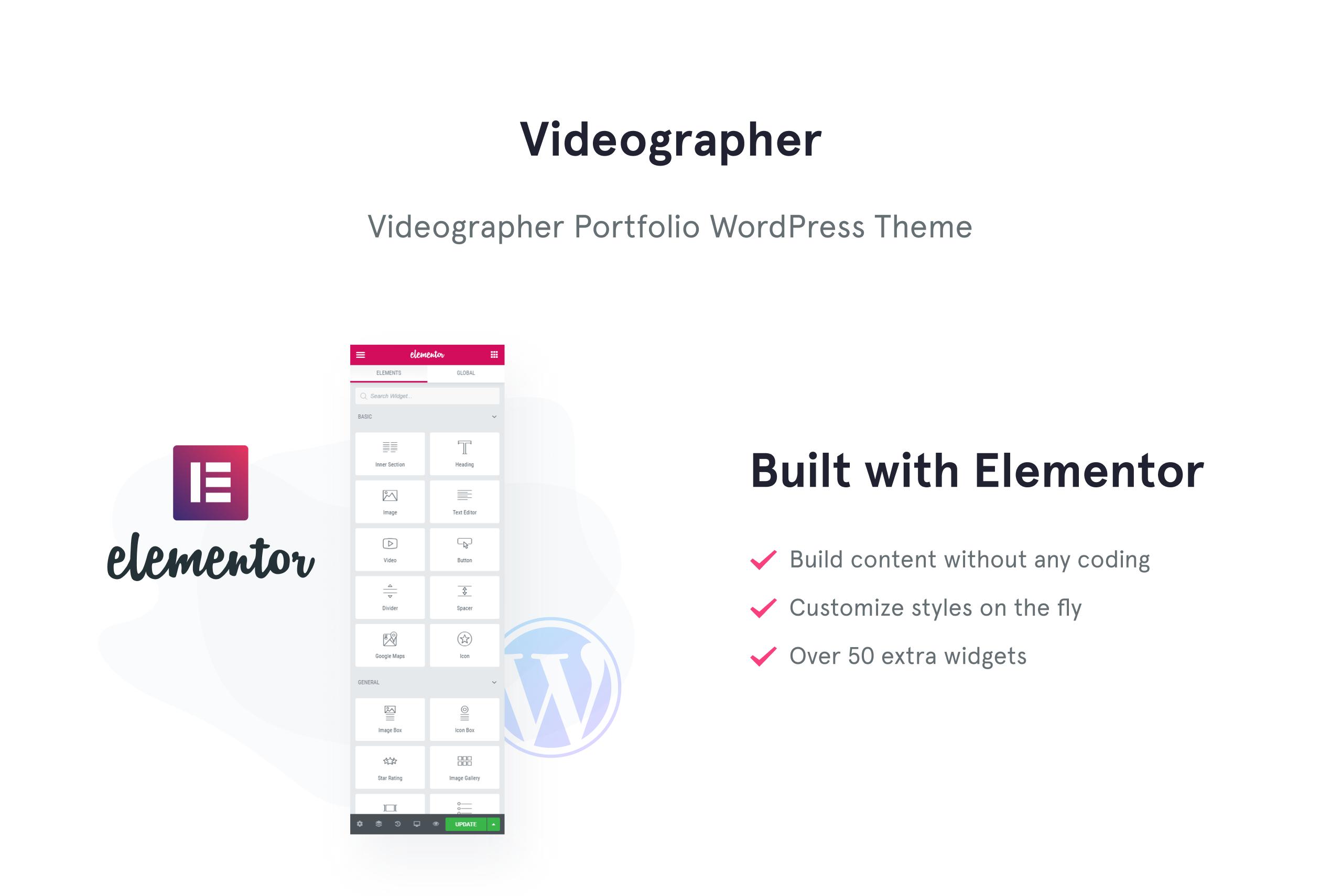 Videographer Portfolio WordPress Theme