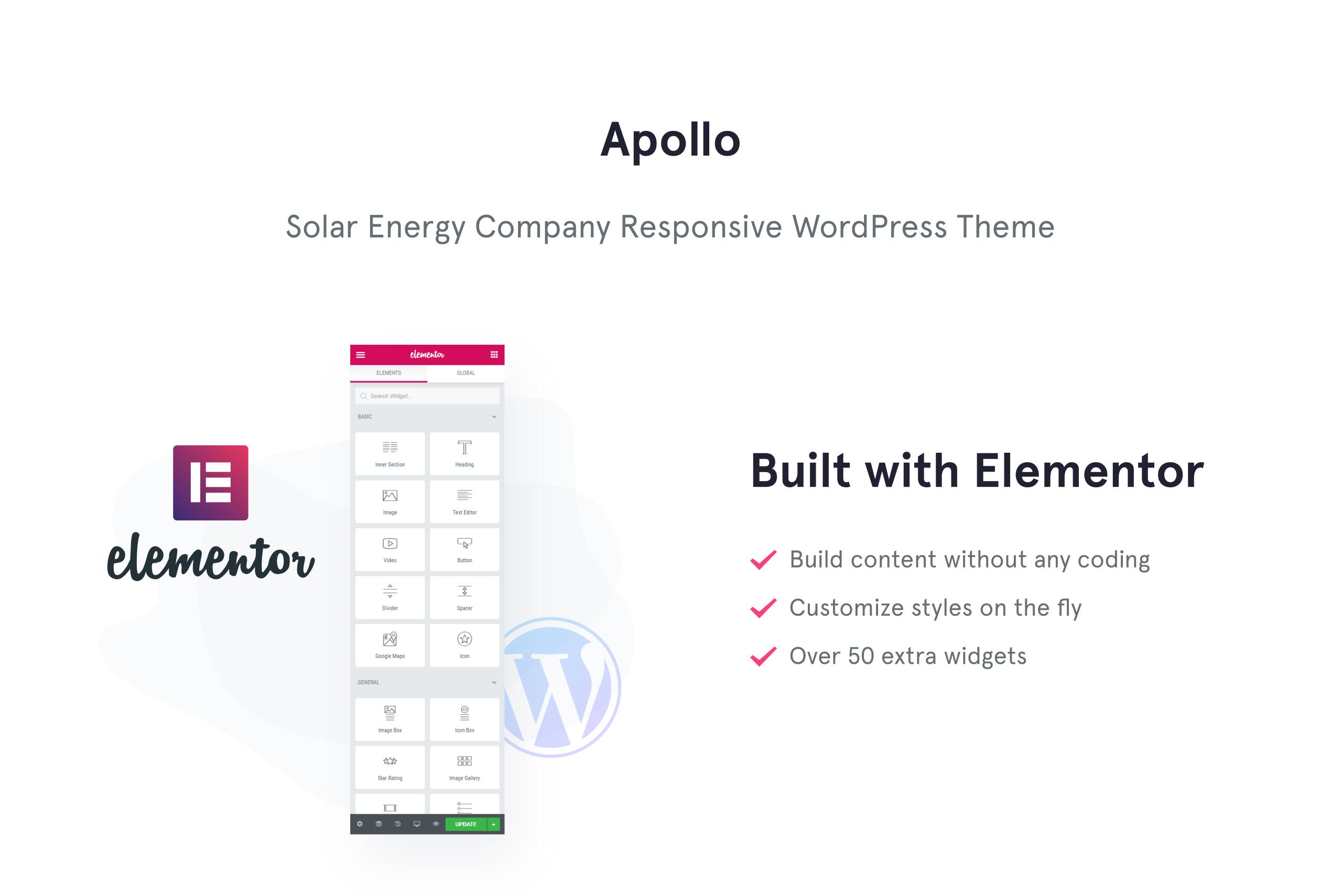 Apollo - Solar Energy Company Responsive WordPress Theme