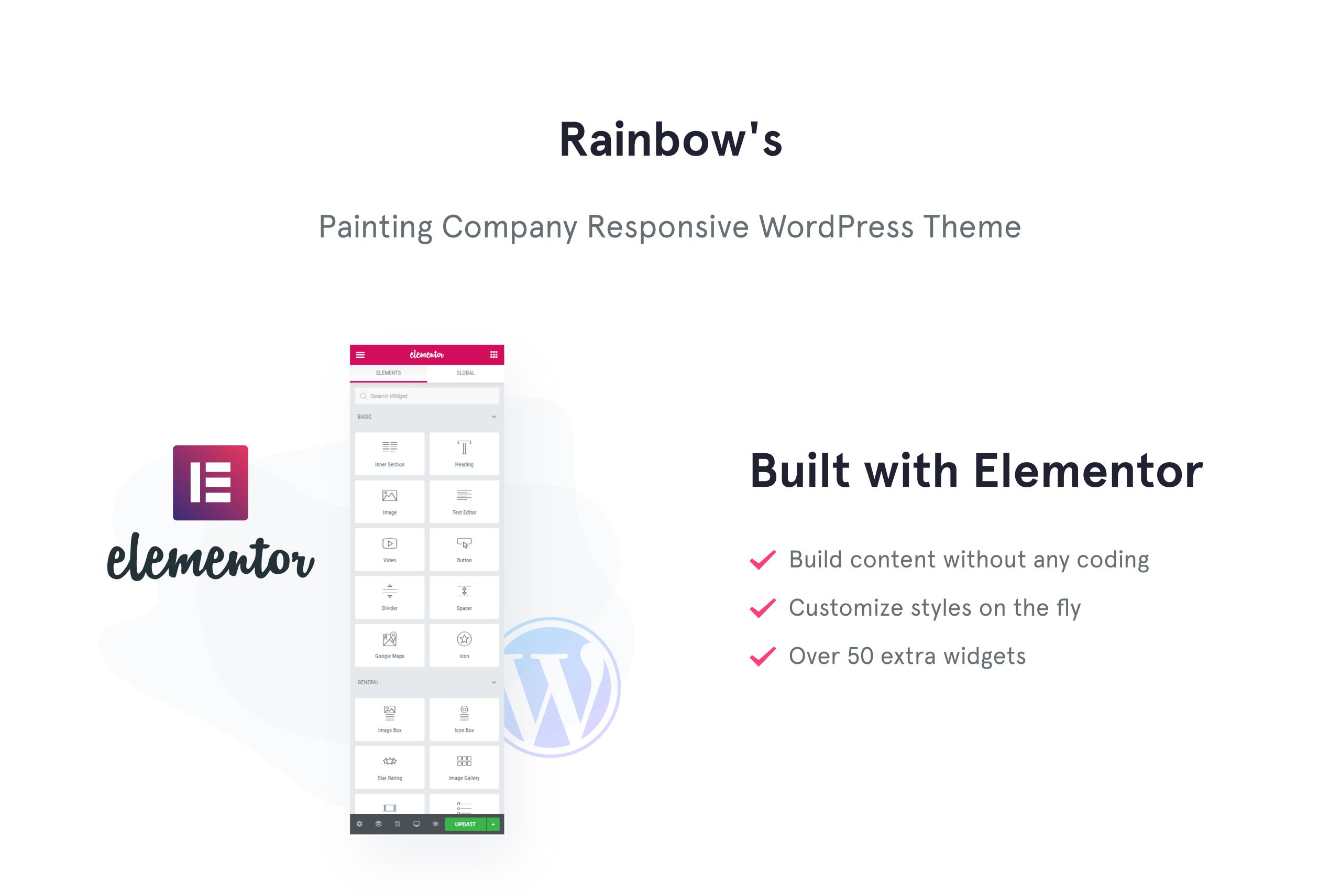 Rainbow's Colors - Painting Company Responsive WordPress Theme