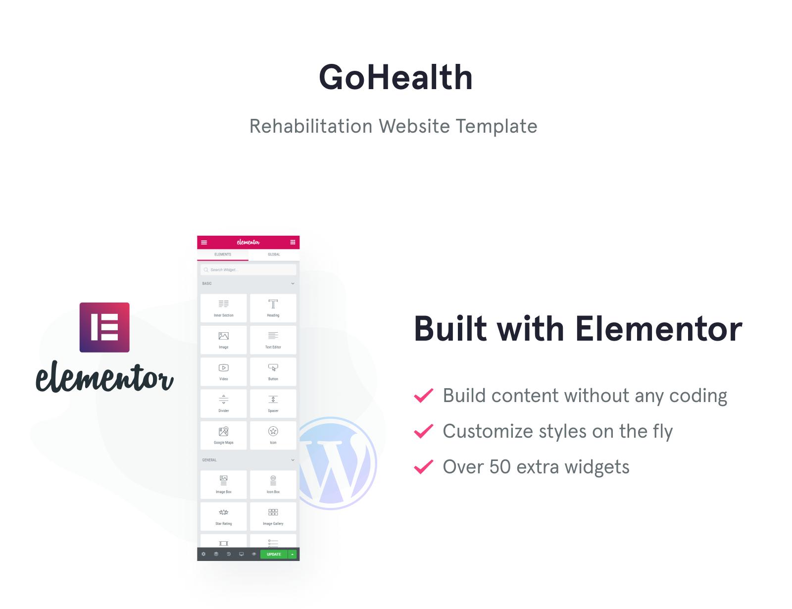 GoHealth - Rehabilitation Website Template WordPress Theme