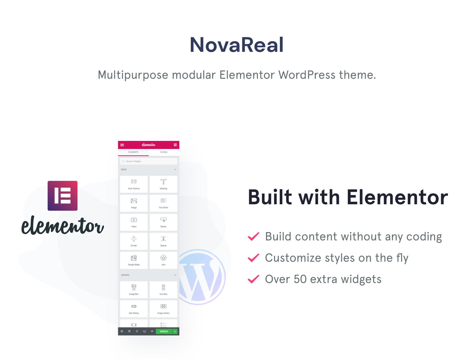 Nova Real - Real Estate Company WordPress Theme WordPress Theme