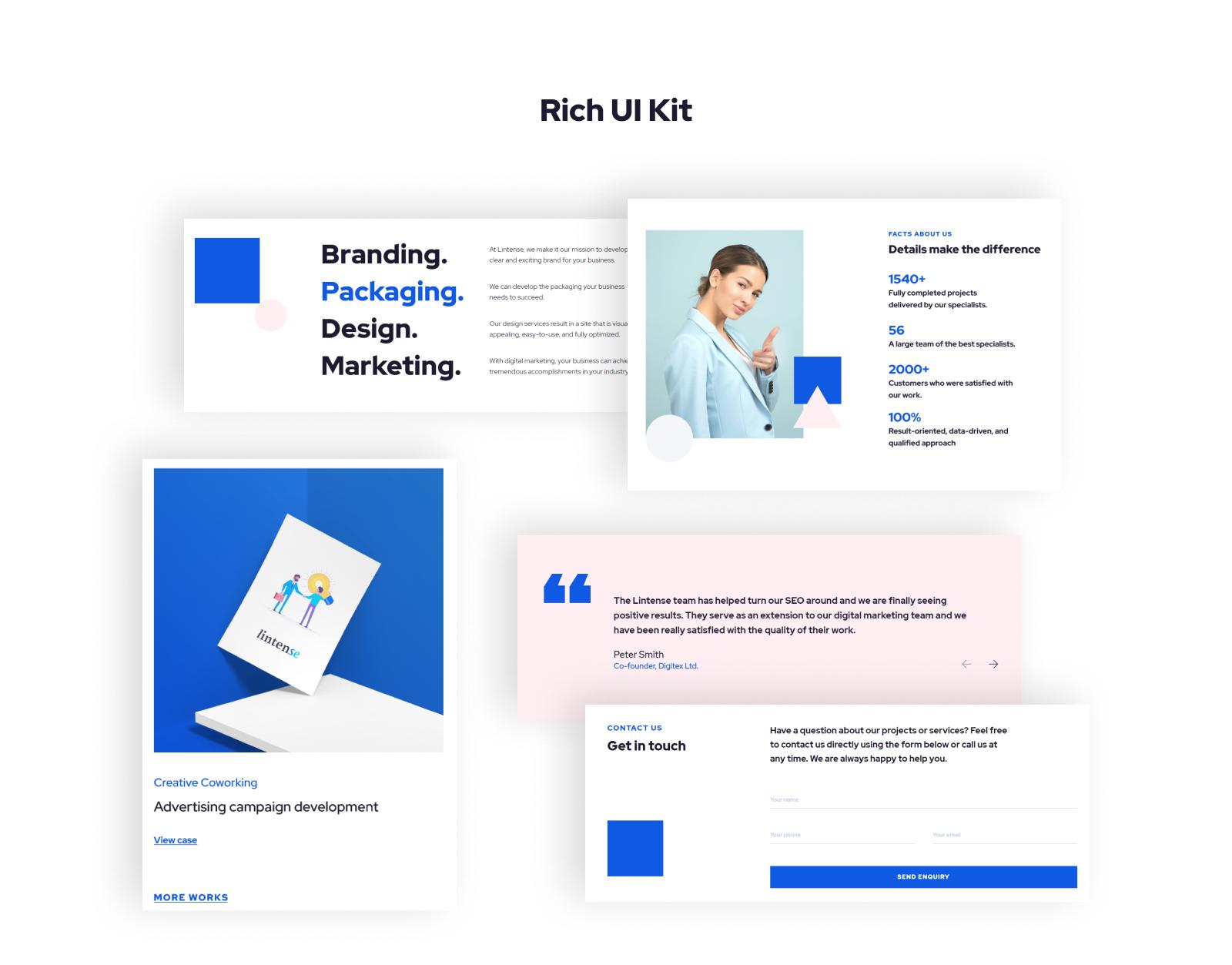 Lintense Advertising Agency - Creative HTML Landing Page Template