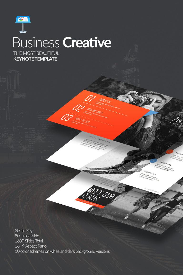 Plantilla Keynote #70947 para Sitio de Agencias de marketing