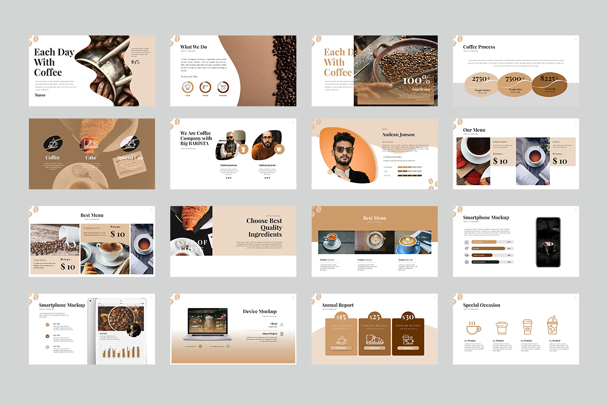 Coffe Presentation PowerPoint Template