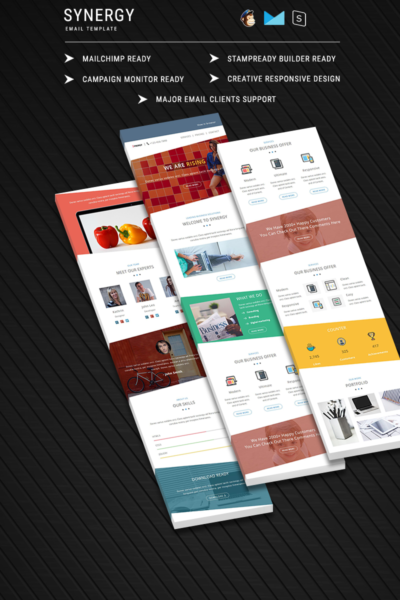 Synergy Responsive Newsletter Template 64532 All Templates