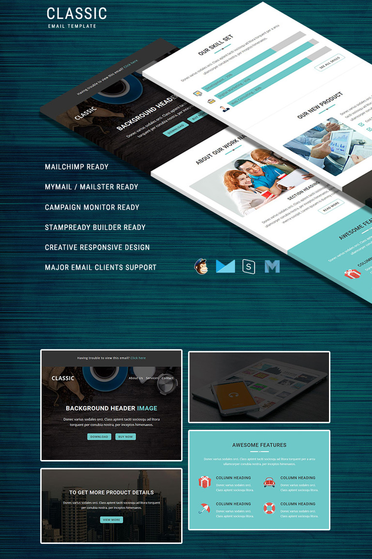 Classic Responsive Email Template Newsletter Template - Email brochure template