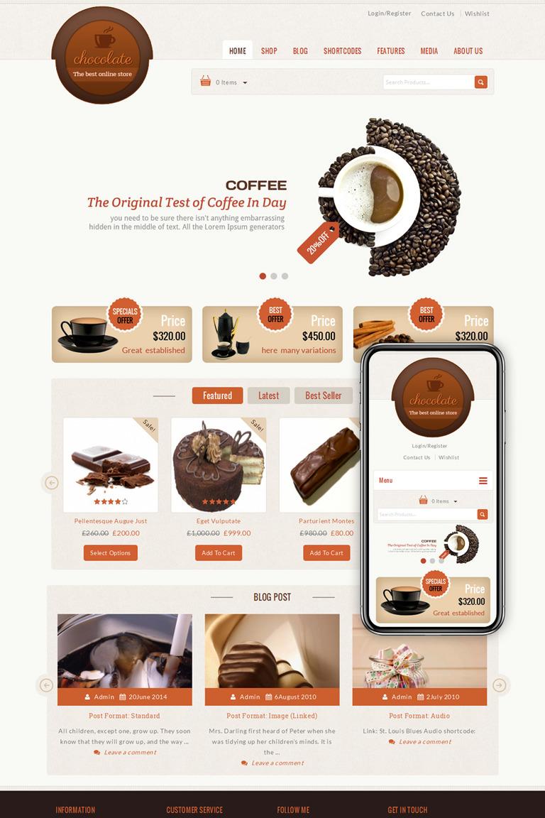 Chocolate - Cake Store WooCommerce Theme