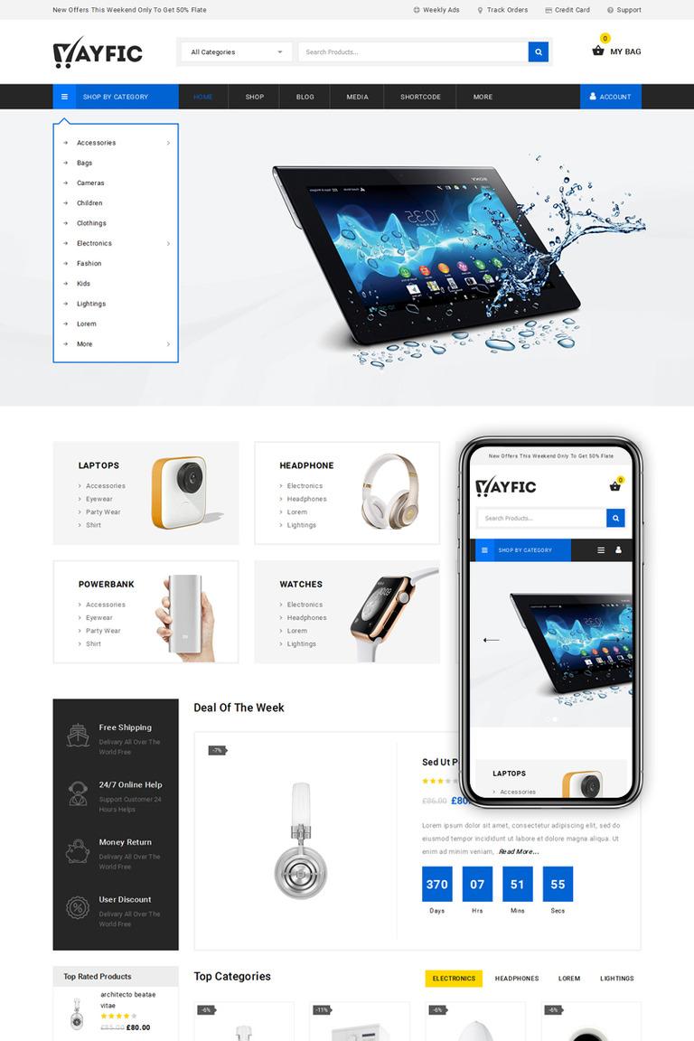 Ayfic - Multipurpose Mega Shop WooCommerce Theme