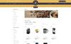 Plantilla OpenCart para Sitio de Tienda de Café Captura de Pantalla Grande
