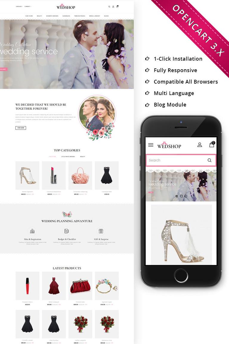 Plantilla OpenCart #70656 para Sitio de Bloges de moda