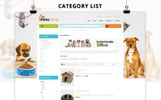 Petsshop Responsive Template OpenCart  №73673