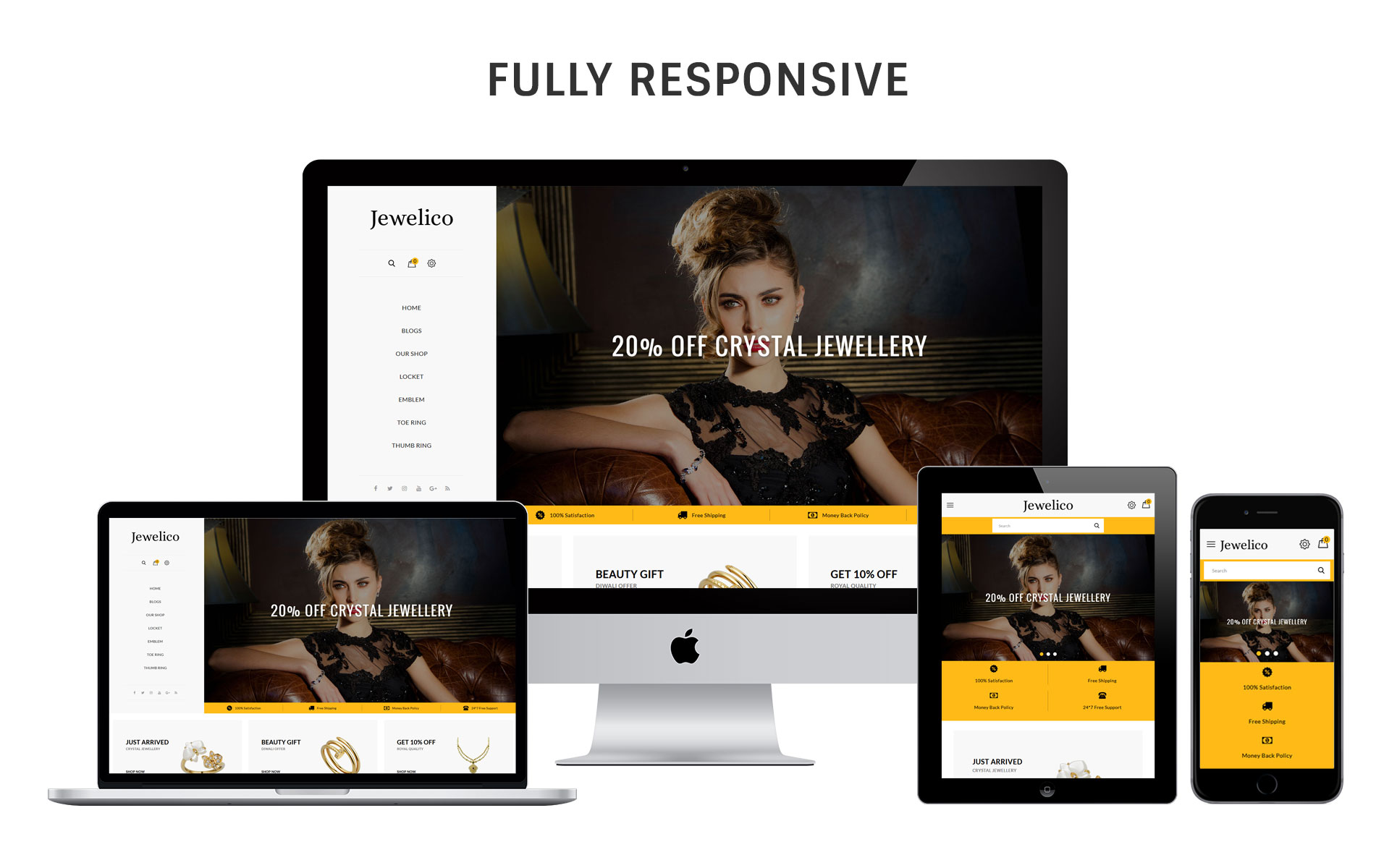 Jewelico - The Jewelry Store Responsive OpenCart Template #74479