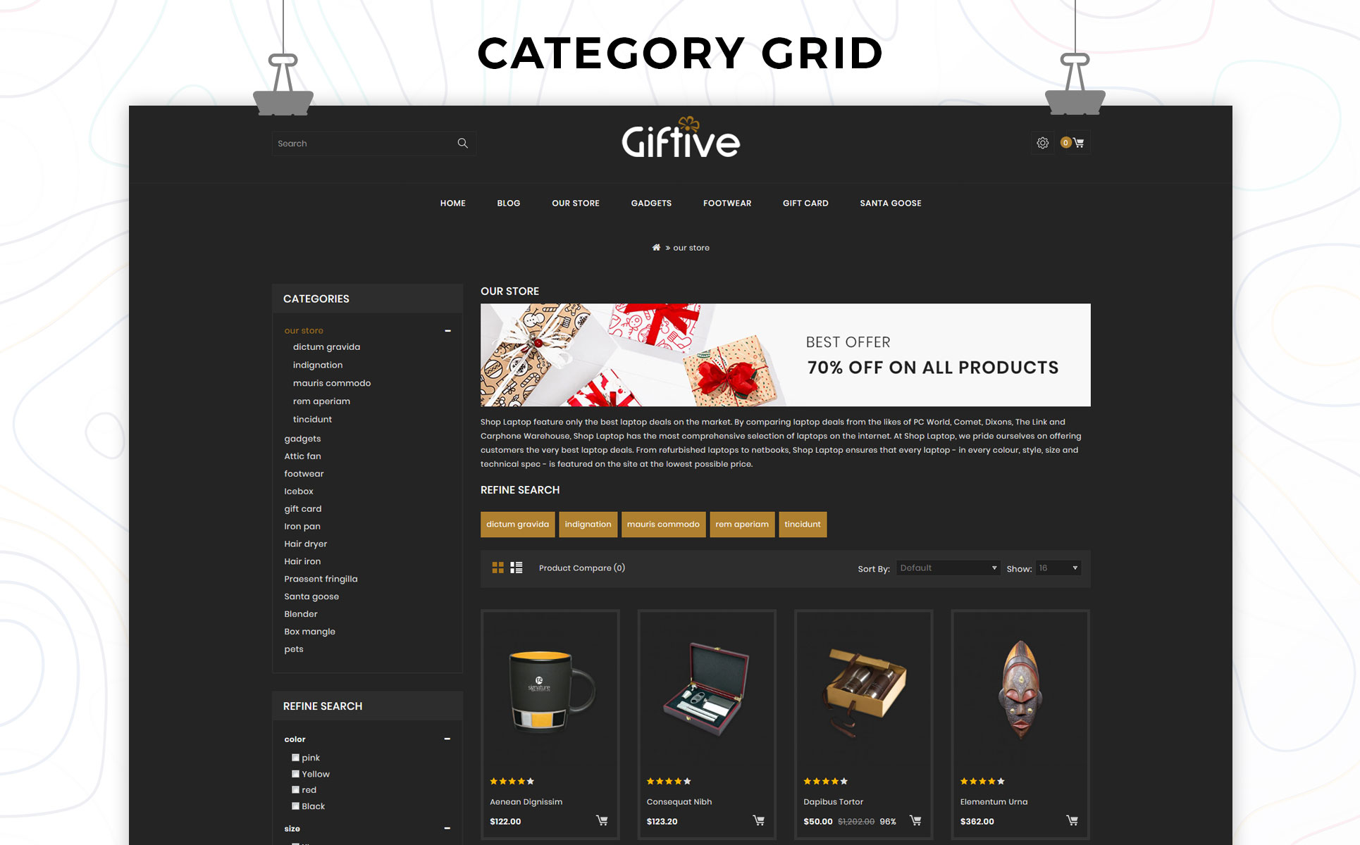 Giftive The Gift Store Responsive OpenCart Template