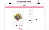 Plantilla OpenCart para Sitio de Tienda de Flores