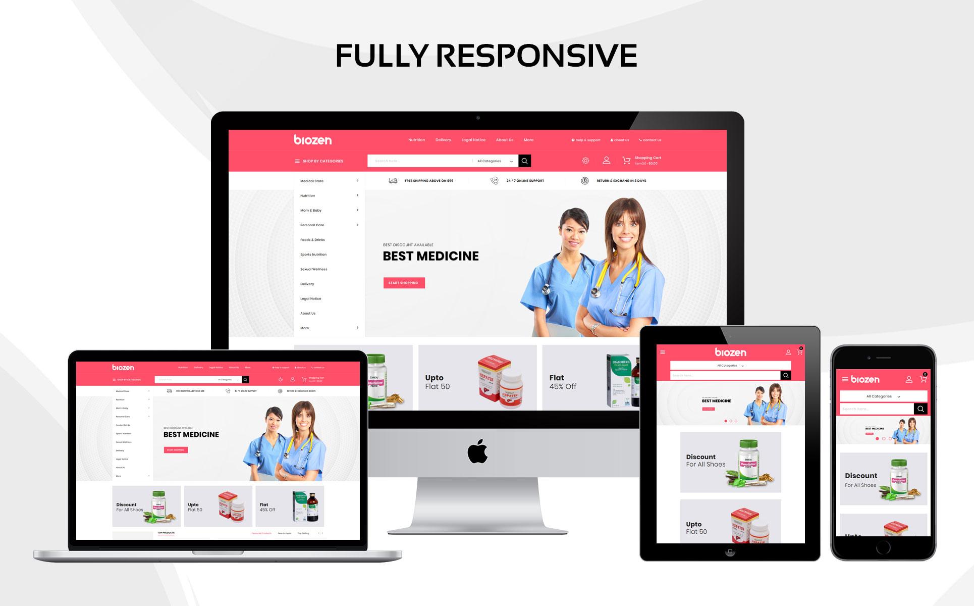 Tema para prestashop - Categoría: Salud y medicina - versión para Desktop