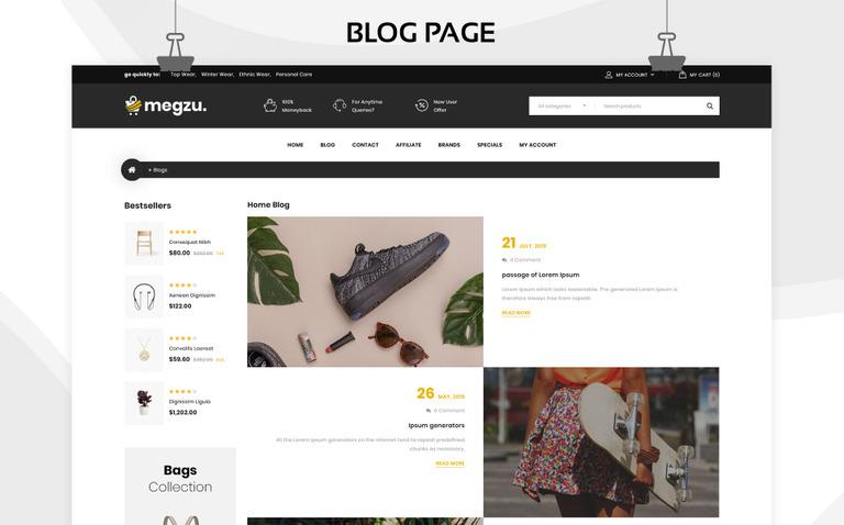 Megzu - The Mega Store Responsive Premium OpenCart Template #83947