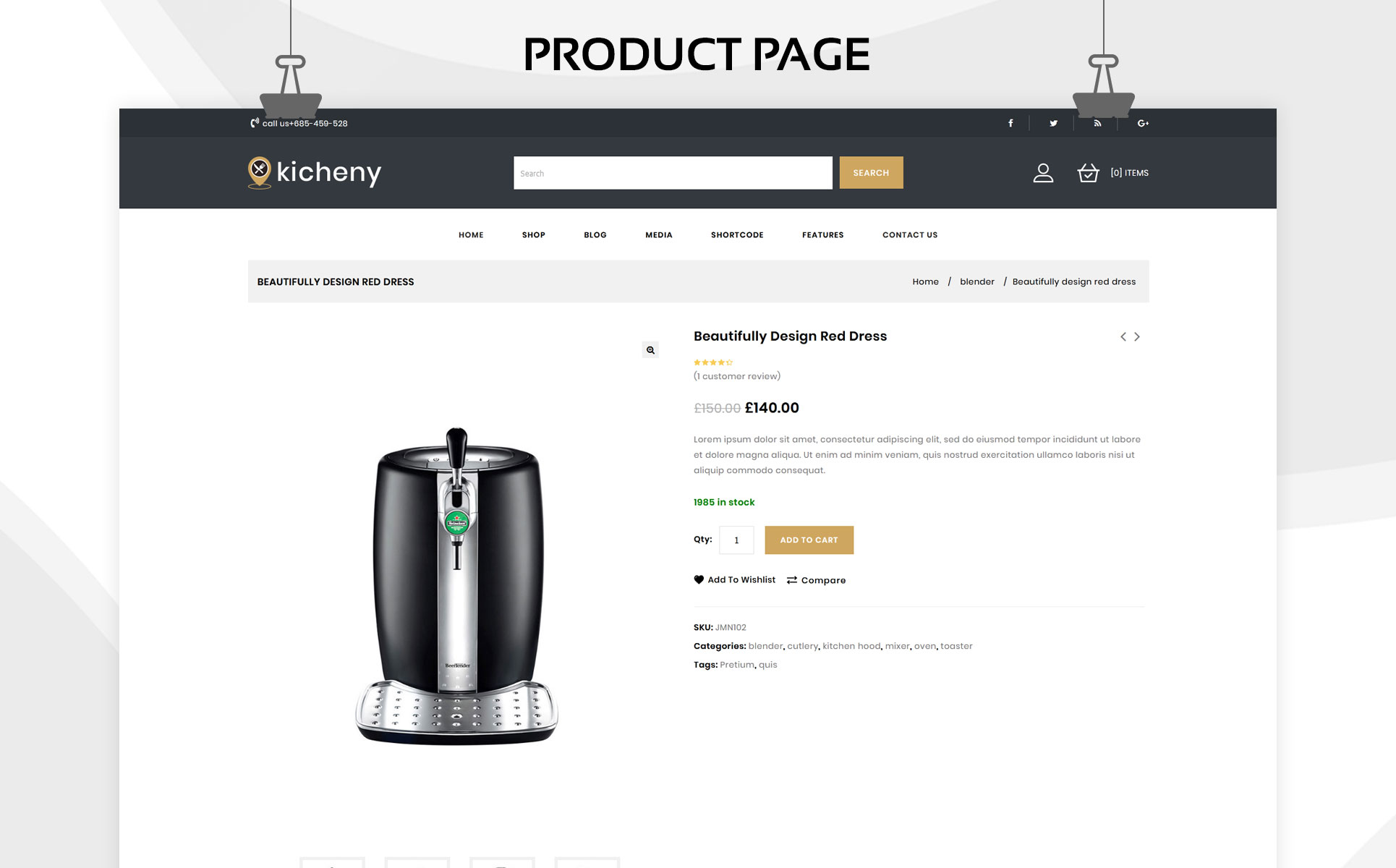 Kicheny - The Kitchen Appliance Store WooCommerce Theme