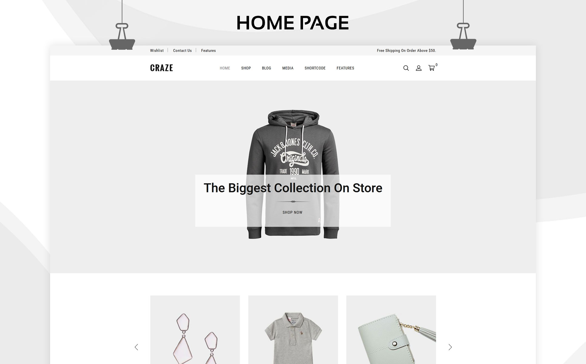 Craze - The Fashion Store Responsive WooCommerce Theme