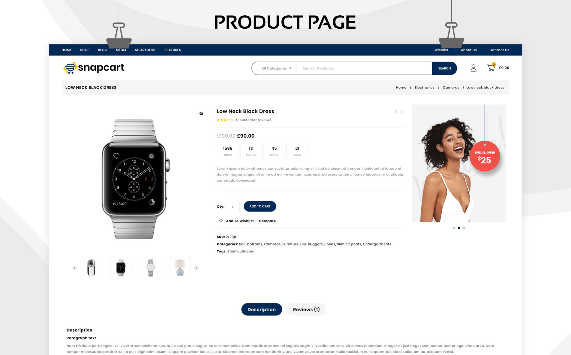 Snapcart - The Ultimate Mega Shop Responsive WooCommerce Theme