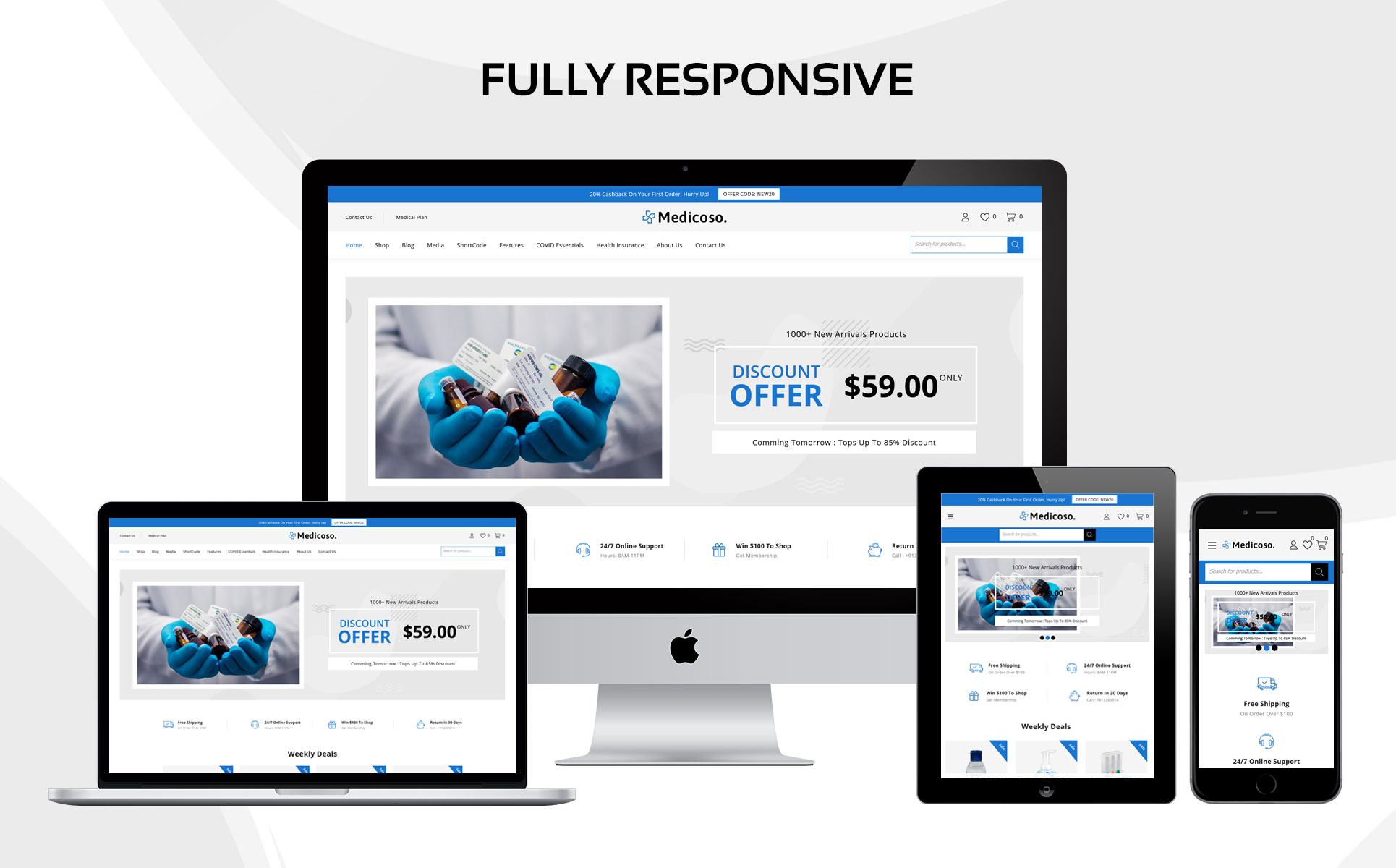 Medicoso - The Medical Store Responsive WooCommerce Theme