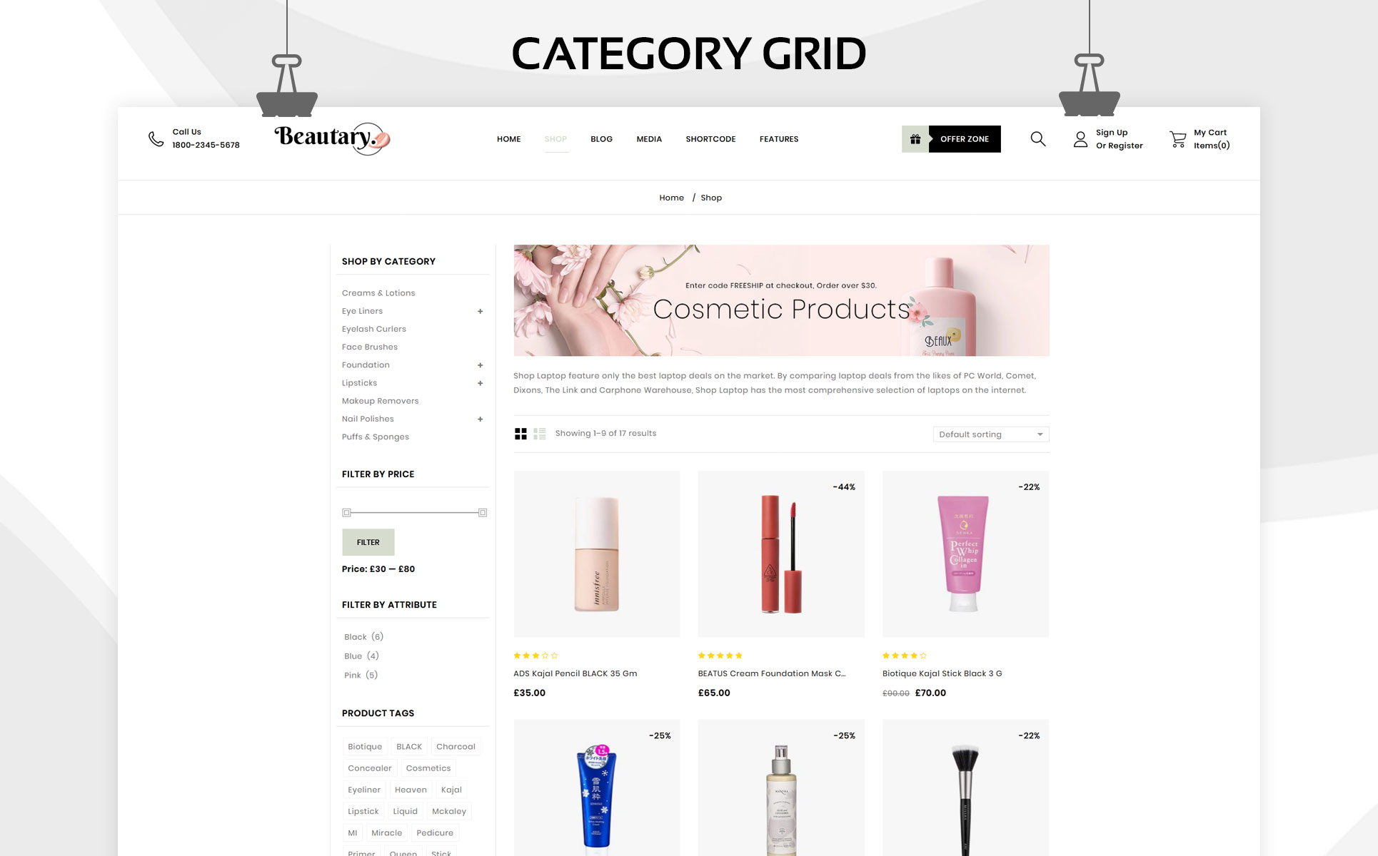Beautary - The Ladies Cosmetic Store WooCommerce Theme