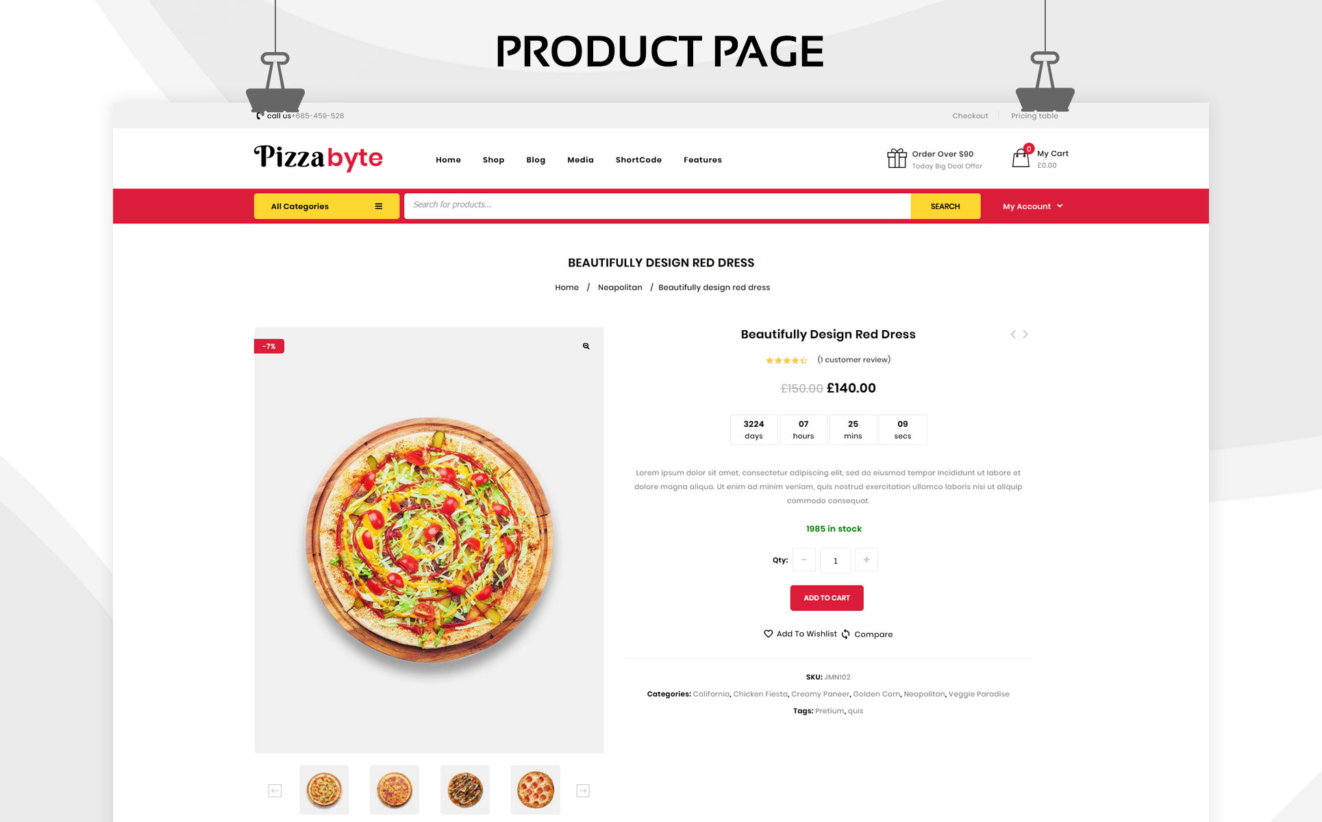 Pizzabyte - The Fast Food & Restaurant Store WooCommerce Theme