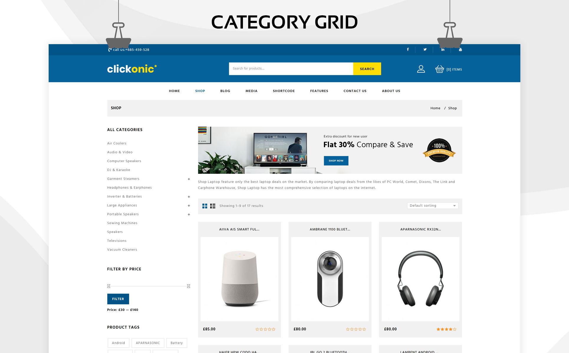 Clickonic - The Mega Electronic Store WooCommerce Theme
