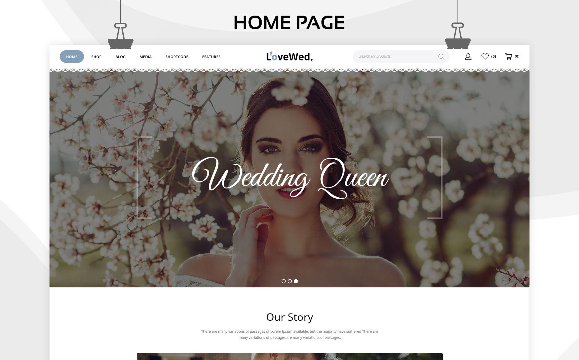 Lovewed - The Wedding Store Responsive WooCommerce Theme