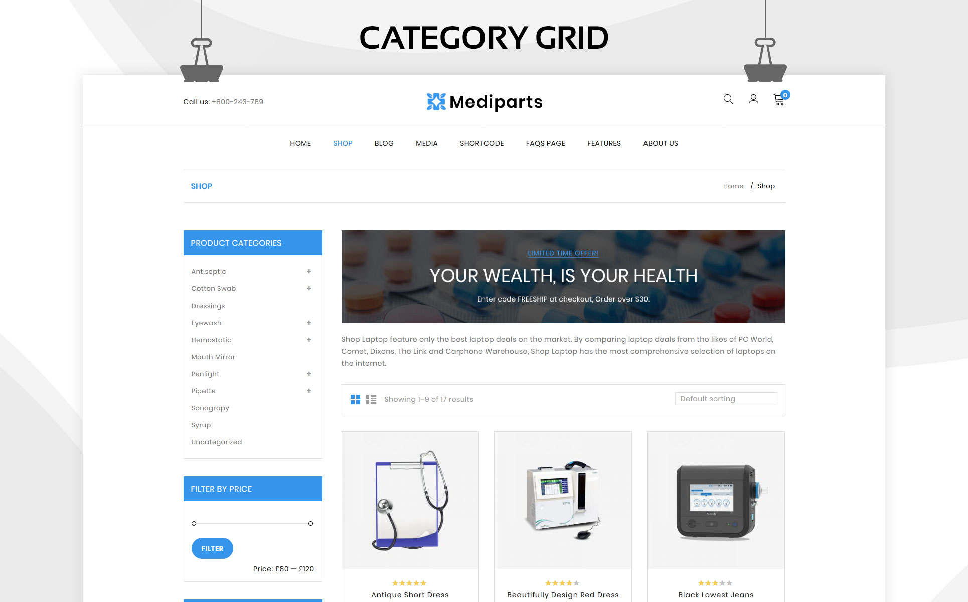 Mediparts - The Medical Store Responsive WooCommerce Theme