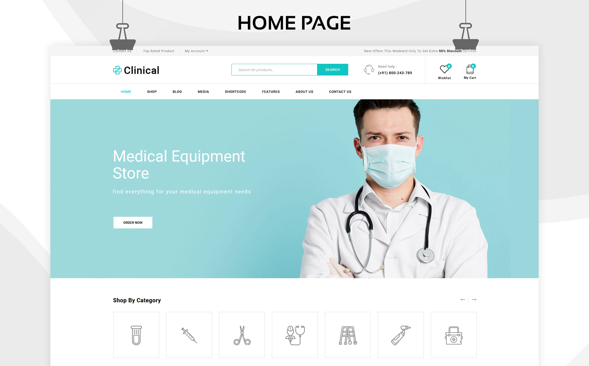 Clinical - The Medical Store Responsive WooCommerce Theme